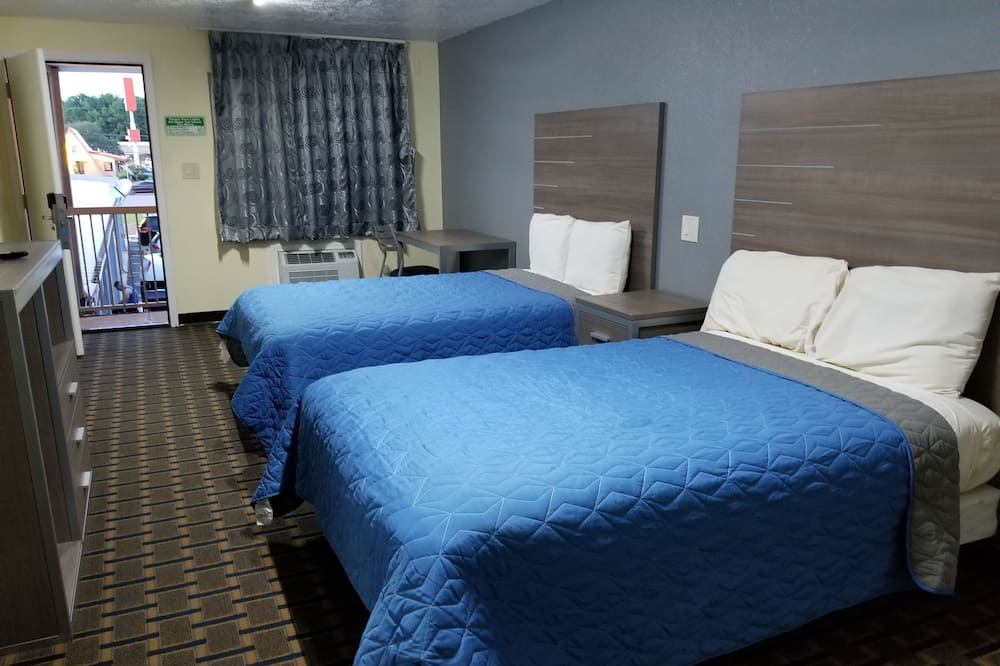 Economy Double Room, 2 Double Beds, Non Smoking - Guest Room