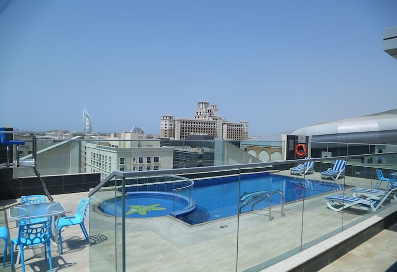 Tulip Al Barsha Hotel Apartment, Dubajus, Lauko baseinas
