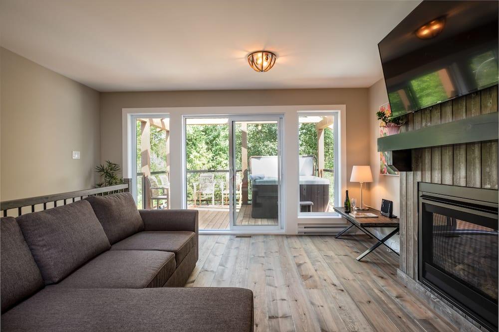Nhà gỗ tiện nghi đơn giản, Nhiều giường, Không hút thuốc - Khu phòng khách