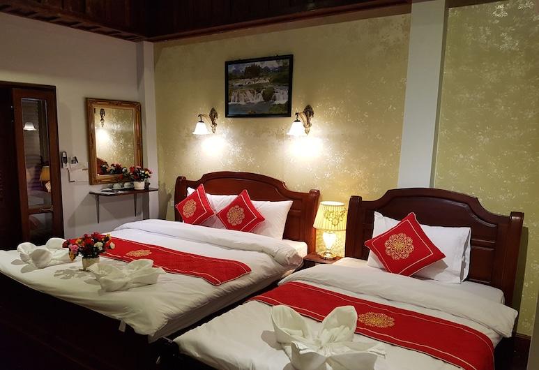 Villa Kee Lee Hotel, Luang Prabang, Tremannsrom – luxury, Balkong