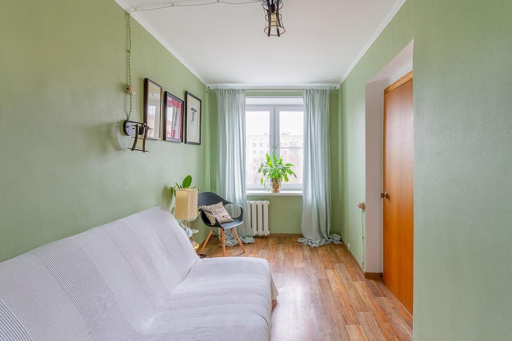 Apartamentai su patogumais, 1 didelė dvigulė lova ir 1 sofa-lova, vaizdas į miestą - Kambarys