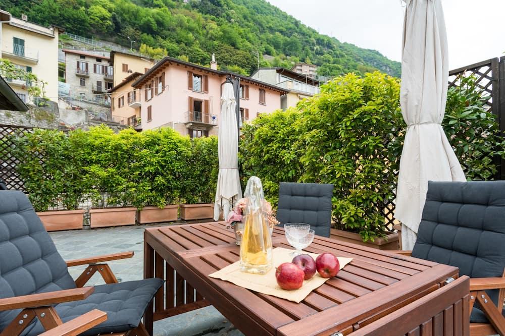 Apartamentai, 2 miegamieji, vaizdas į ežerą (Una Terrazza da Sogno) - Balkonas