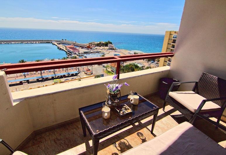 HTL10-Vistamar, Fuengirola, Lägenhet Panoramic - 1 sovrum - tillgång till pool - vid havet, Balkong