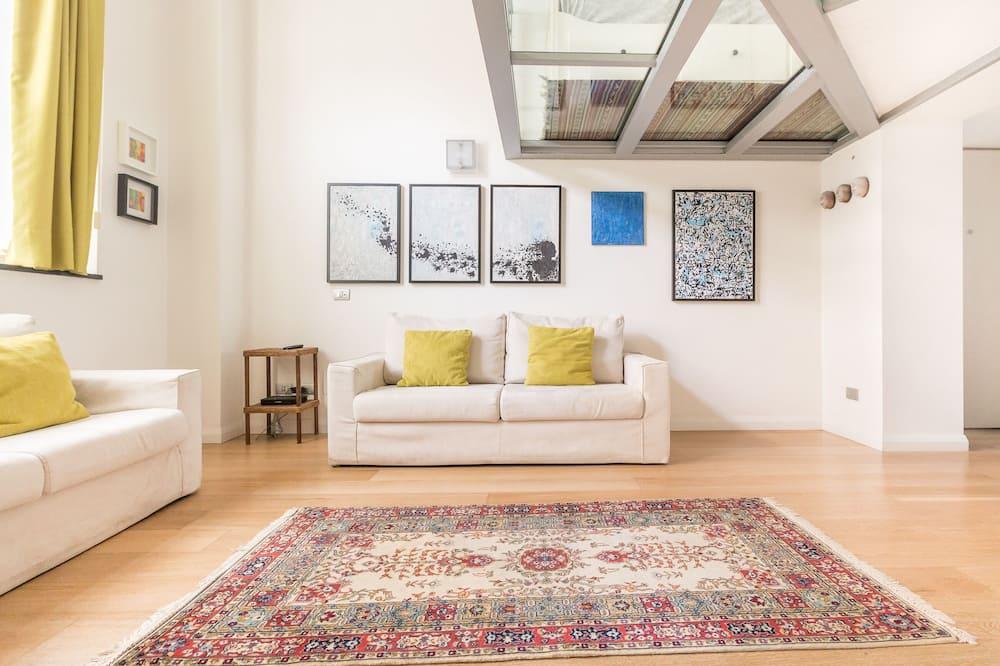 Alloggio su due livelli, 2 camere da letto (Porta Romana M3) - Area soggiorno