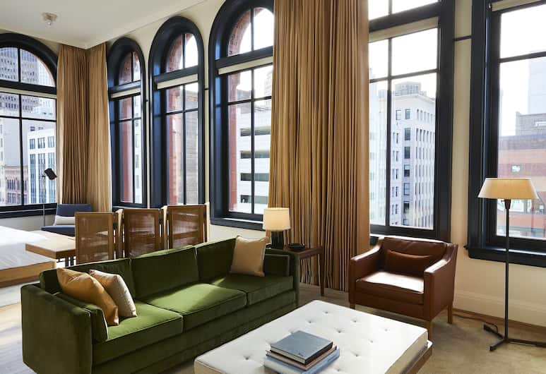 Shinola Hotel, Detroit, Studio – premium, 1 kingsize-seng, ikke-røyk, utsikt mot byen, Gjesterom
