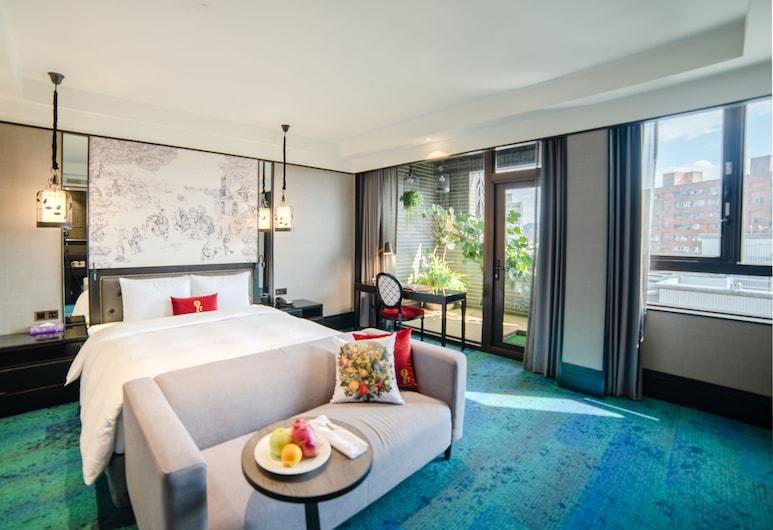 Just Palace, Taipei, Deluxe tweepersoonskamer, 1 kingsize bed, niet-roken, Uitzicht vanaf kamer