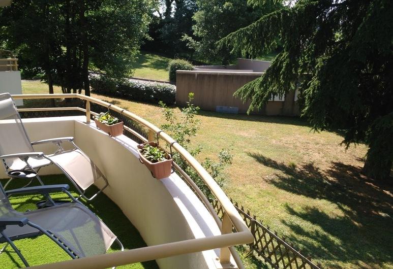 Chambre d'hôte avec balcon et vue sur le parc, אנונה, חדר, מיטה זוגית, ללא עישון, נוף לפארק, מרפסת