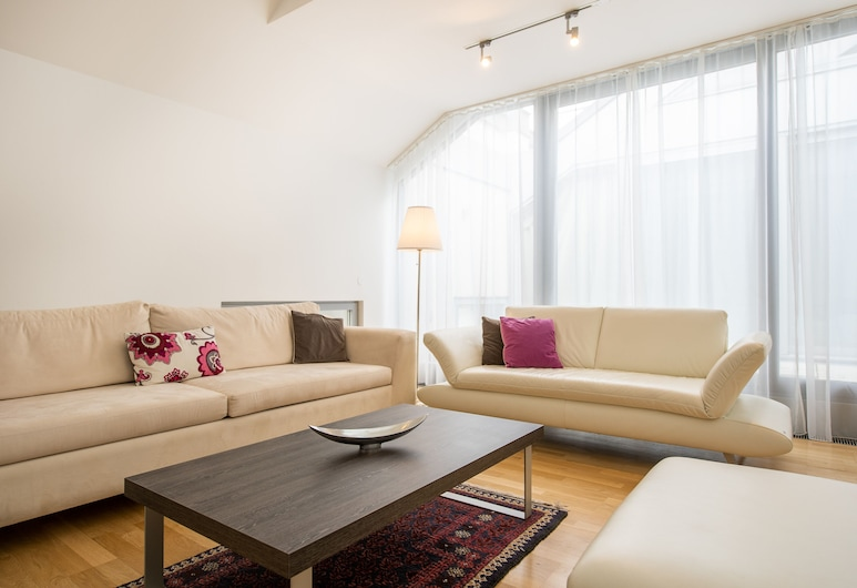 Apartments Wien - Schwarzenbergplatz, Viena, Apartamento superior, 3 quartos, Sala