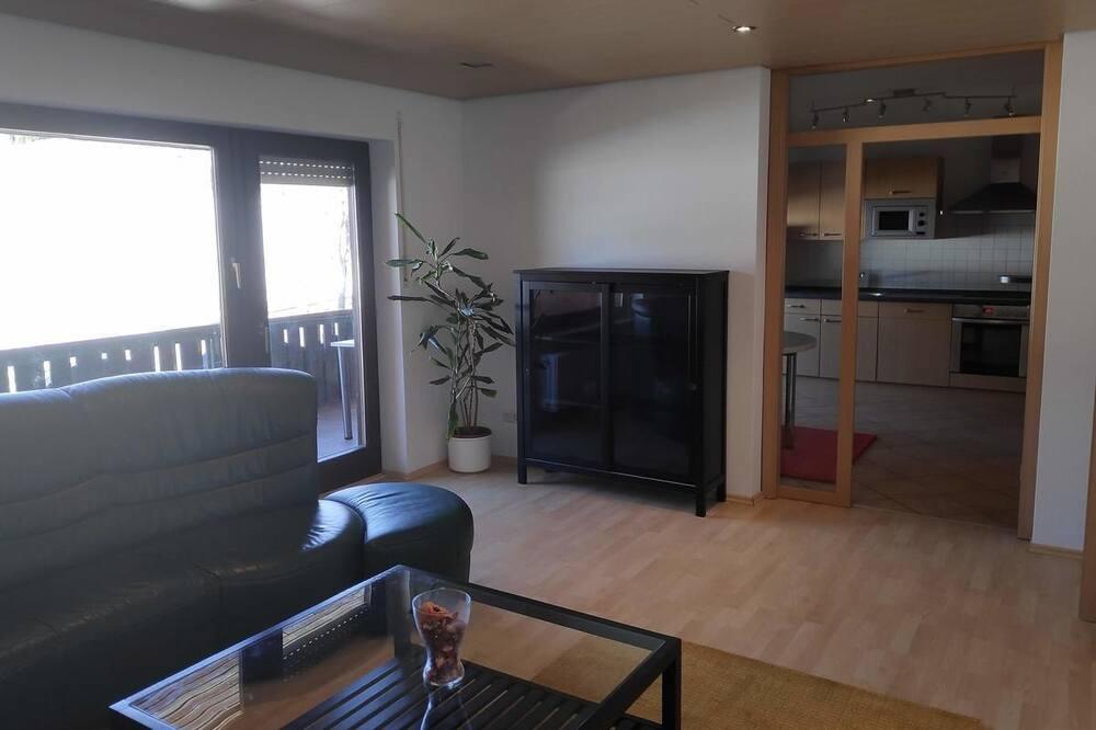 Exclusive-Apartment, 3Schlafzimmer, Nichtraucher, Bergblick - Wohnzimmer