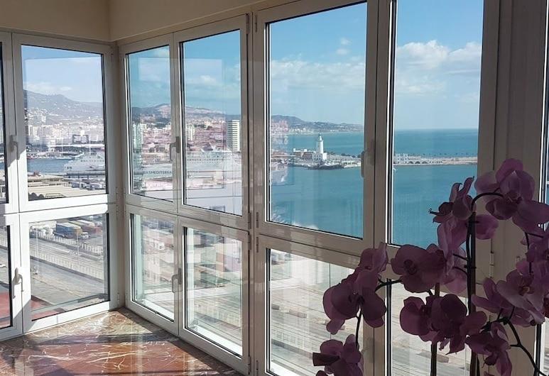 Apt. de lujo - Vistas al mar - Centro, Málaga, Departamento, 3 habitaciones, para no fumadores, Vista desde la habitación