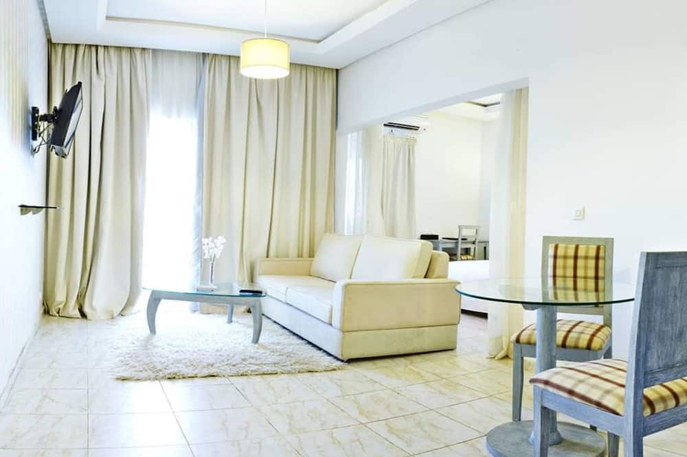 Luxus szoba, 1 queen (nagyméretű) franciaágy - Nappali rész