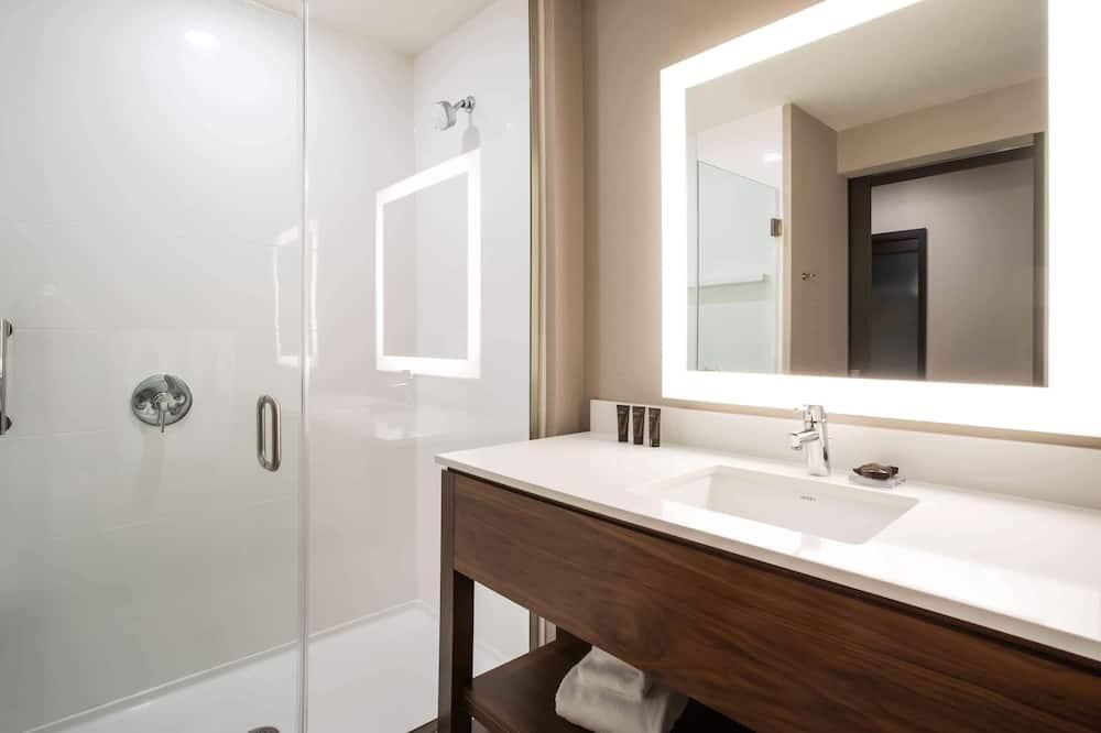 Kambarys, 2 didelės dvigulės lovos, su patogumais neįgaliesiems, Nerūkantiesiems - Vonios kambarys