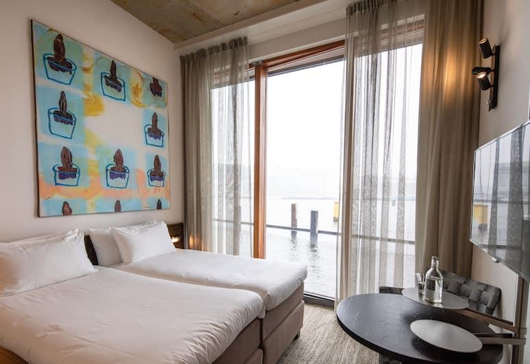 Hotel Pontsteiger, Amsterdam, Chambre Deluxe Double ou avec lits jumeaux, vue lac, Chambre