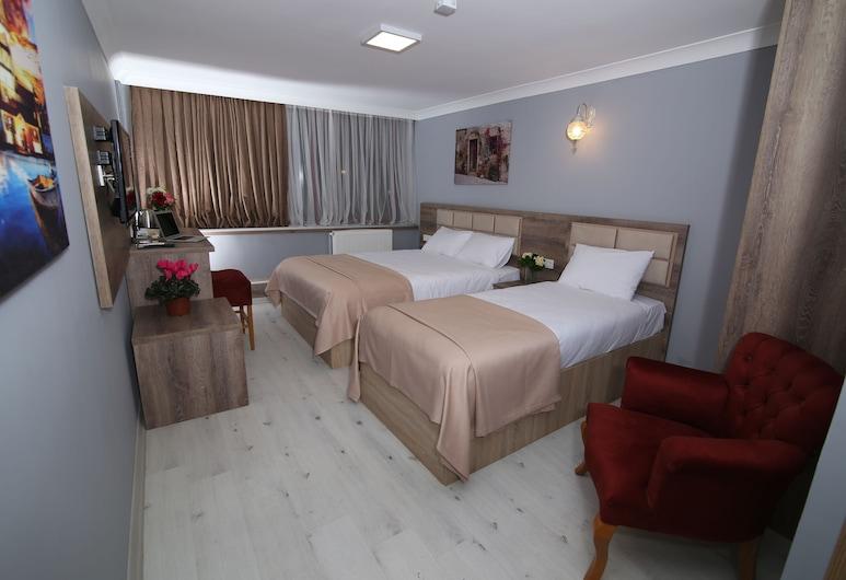 Kocatepe Hotel, Анкара, Стандартный трехместный номер, 3 односпальные кровати, для людей с ограниченными возможностями, Номер