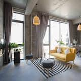 Appartement Familial, 2 chambres, balcon, vue fleuve - Coin séjour