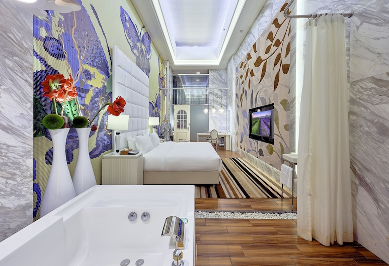 KE Hotel International Convention and Exhibition Center Shenzhen, Shenzhen, Suite Desain, 1 Tempat Tidur Queen, Kamar Tamu