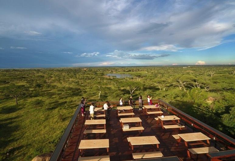 Seronera Wildlife Lodge, Национальный парк Серенгети, Обед на террасе