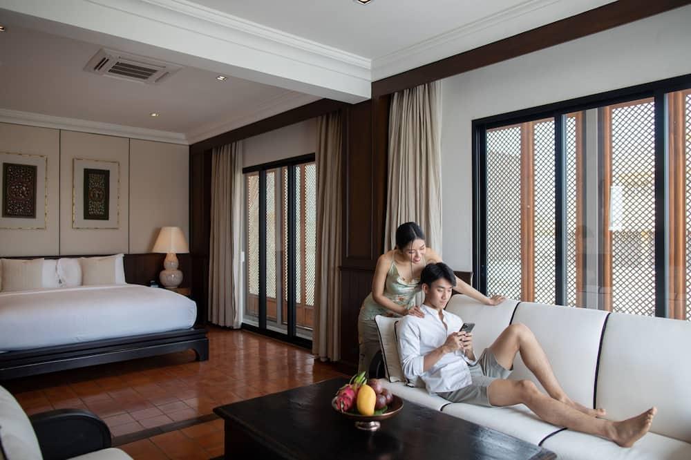 ห้องแกรนด์สวีท, เตียงคิงไซส์ 1 เตียง, ปลอดบุหรี่ - พื้นที่นั่งเล่น