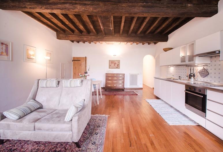 整潔公寓飯店 - 步行可至大教堂, 佛羅倫斯, 公寓, 1 間臥室, 客廳