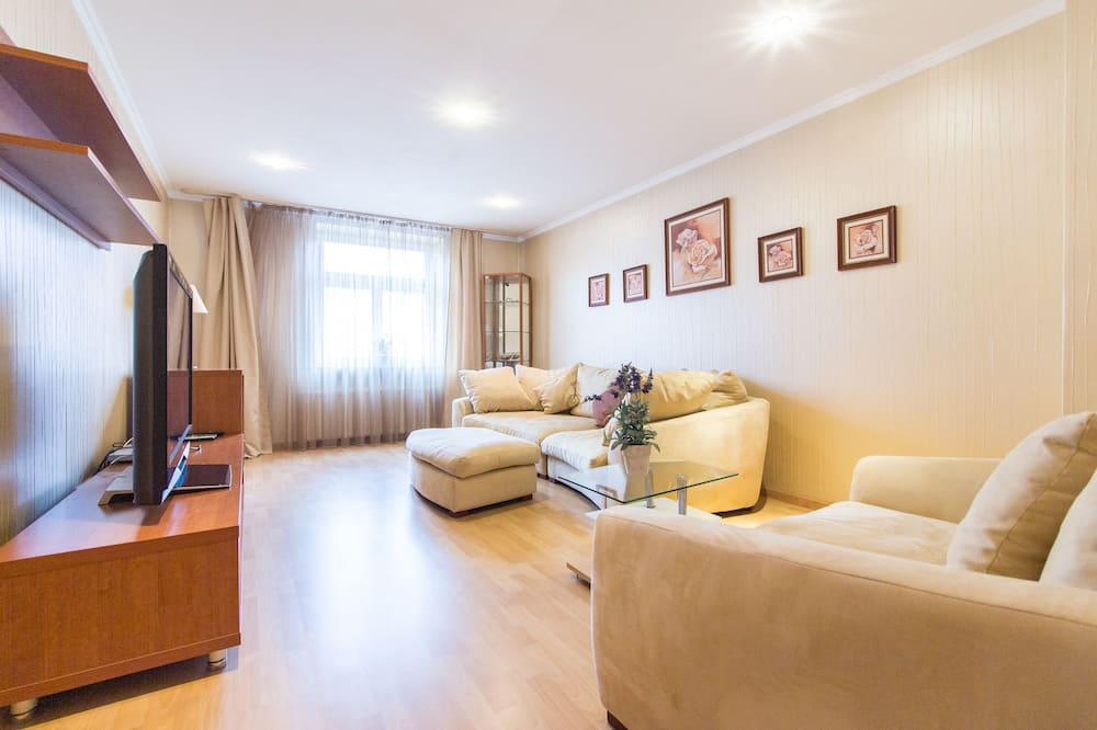 Departamento, 1 cama doble (Vinohradska 75) - Sala de estar