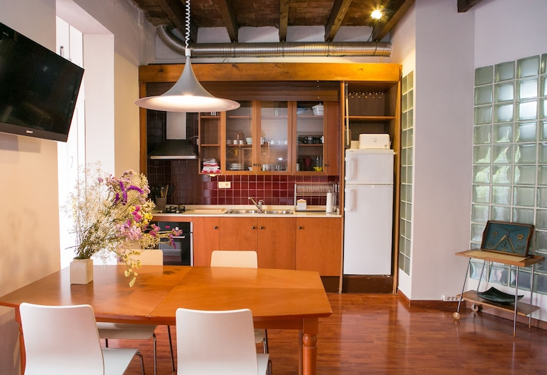 Incredible Loft With Private Terrace, Barcelona, Apartment, 1 Bedroom, Living Area