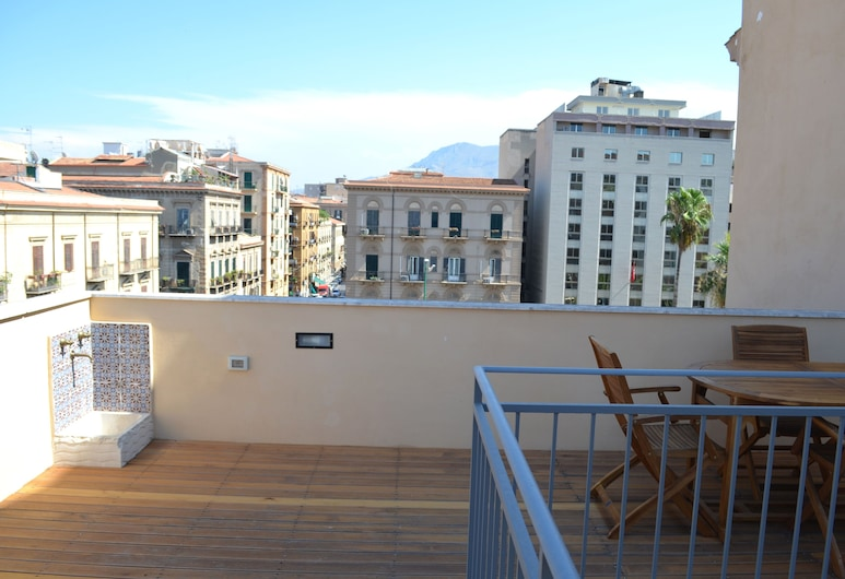 Florio Suites & Terrace, Palerme, Appartement Luxe, 1 grand lit, non-fumeurs, Terrasse/Patio