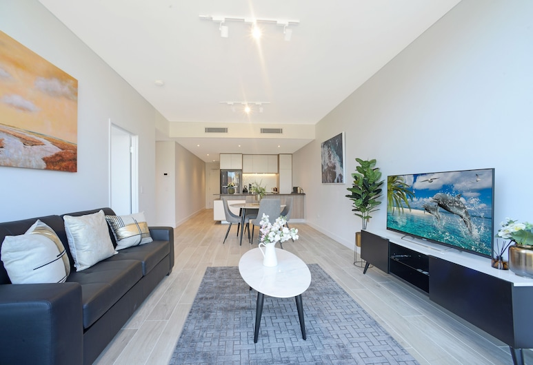 Luxury Terrace a Peaceful Yet Convenient Location, Burwood, Apartment, 1 Bedroom, Living Area