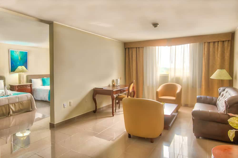 Deluxe suite, 2 tweepersoonsbedden, niet-roken, keuken - Woonkamer