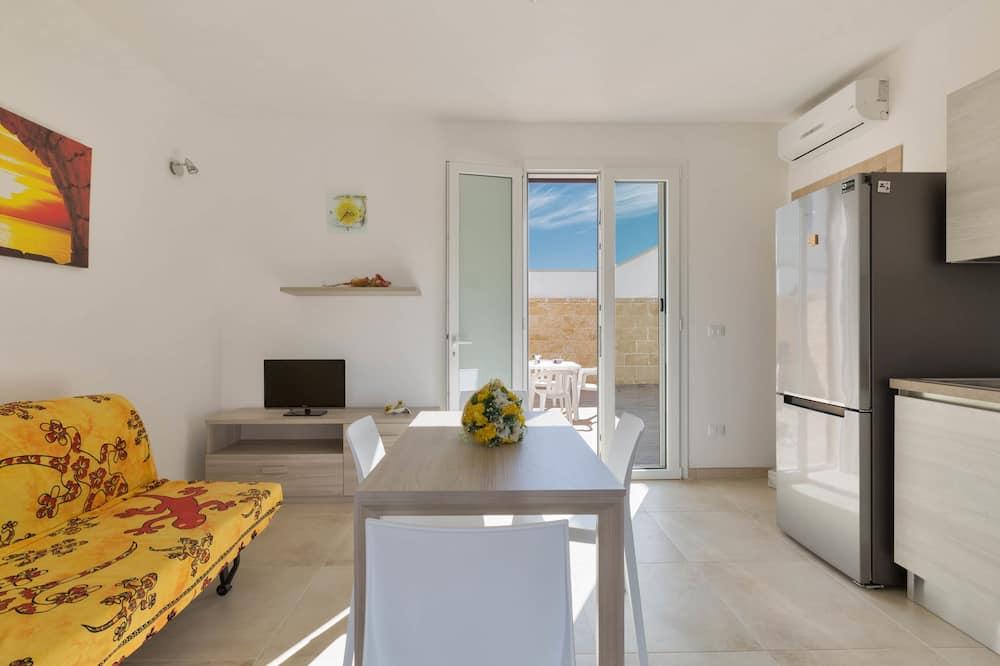 Domek typu Comfort, 2 ložnice - Obývací prostor