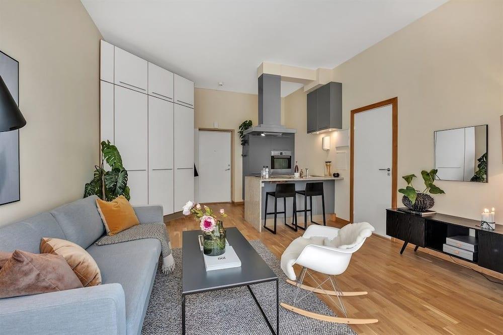 Lägenhet - 1 queensize-säng med bäddsoffa - icke-rökare - Vardagsrum