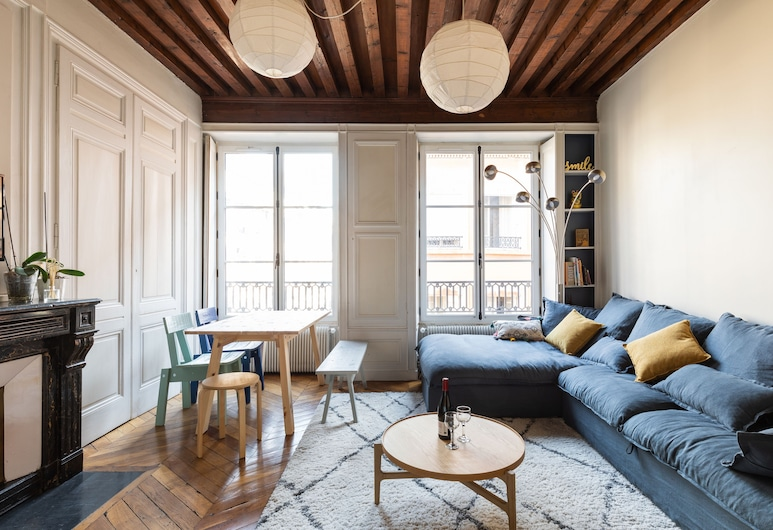 DIFY Lovely - Cordeliers, Lyon, Appartement Luxe, 2 chambres, Coin séjour