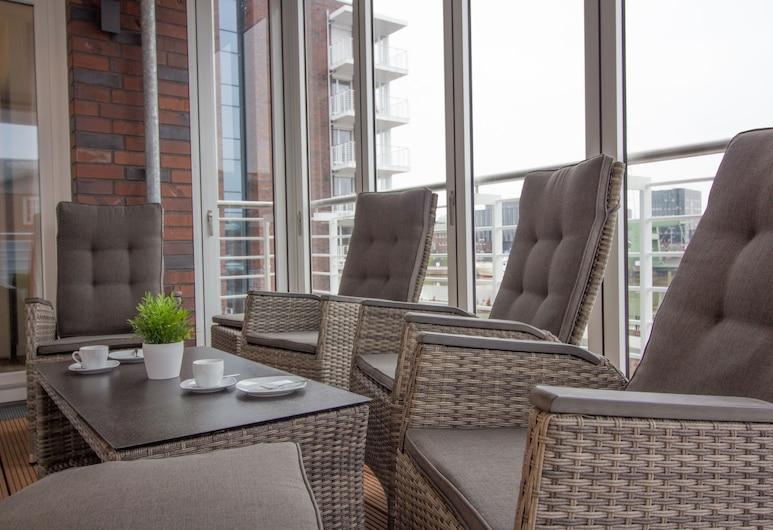 Wohnen am Yachthafen W48, Cuxhaven, Apartment (W48, inkl. Endreinigungsgebühr €63), Ausblick vom Zimmer