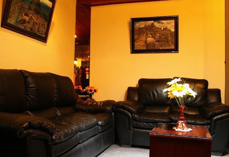Hostal Alfredo's Palace, Cusco, Sitzecke in der Lobby
