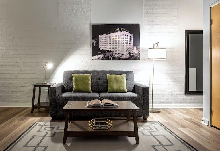 Stay Alfred at The Block, Indianapolis, Standarta dzīvokļnumurs, divas guļamistabas, Dzīvojamā zona