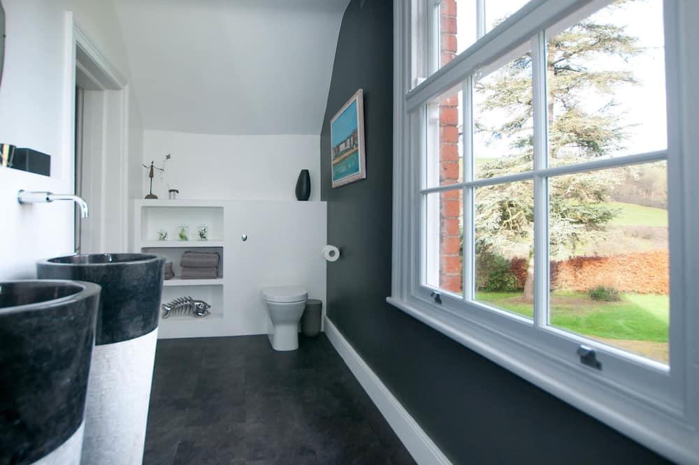 디럭스 더블룸, 킹사이즈침대 1개, 앙스위트, 정원 전망 (Copper Beach Suite) - 욕실