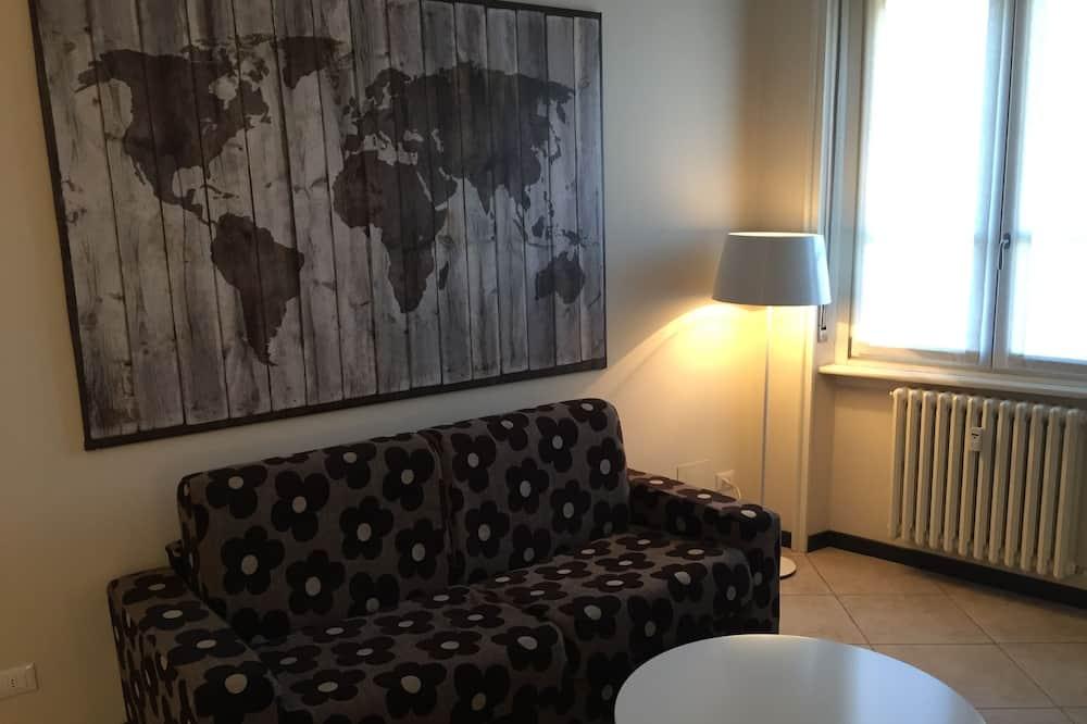 City apartman, 1 kétszemélyes ágy és egy kihúzható kanapé, nemdohányzó - Nappali rész