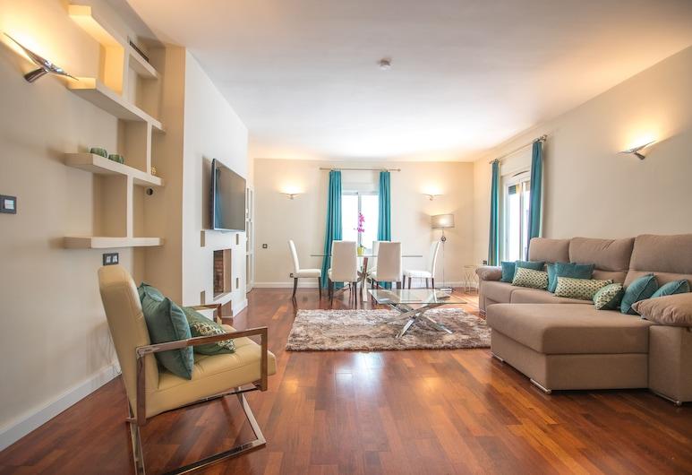 OleHolidays 328 Centro Puerto Banús 50 m. Playa, Marbella, Appartement, 2 slaapkamers, terras, Woonkamer