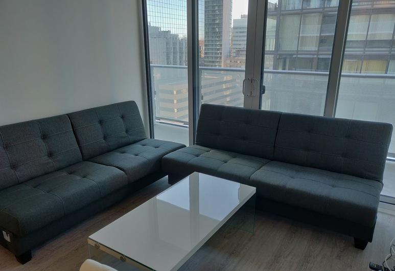 AMAZING DOWNTOWN CORE TORONTO SUITE, Toronto, Luxe appartement, Meerdere bedden, Woonkamer