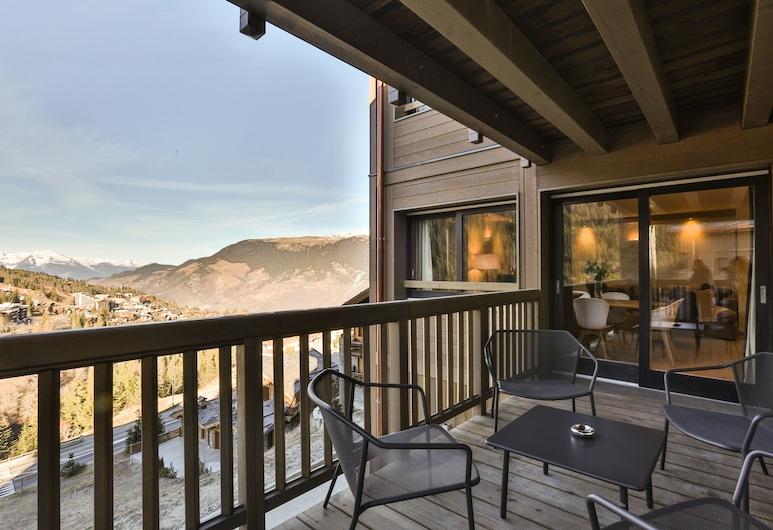 Keystone Lodge Apartment T4 Cabin C04, Courchevel, Luxury-Apartment, Bergblick, Blick vom Balkon