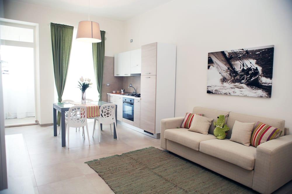 شقة - منظر للفناء (Sottovento) - منطقة المعيشة
