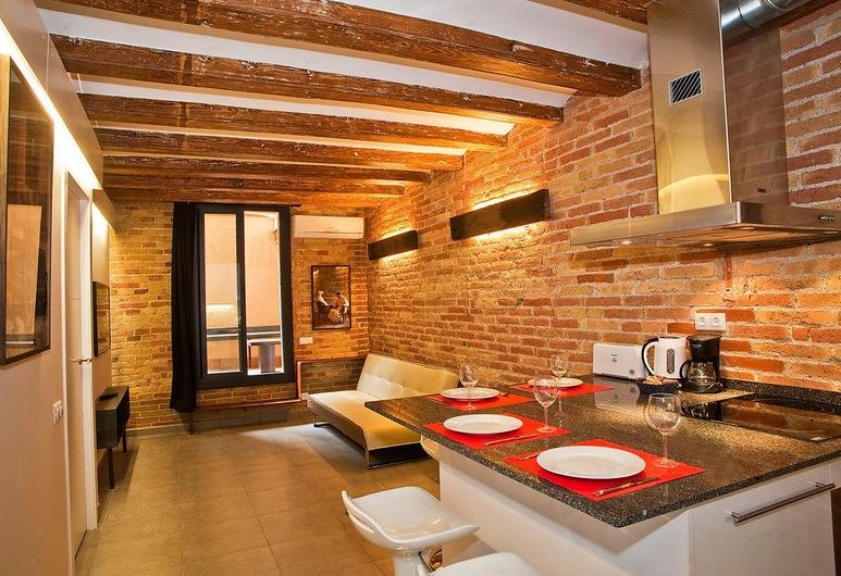 AG Apartments, Barcelona, Apartmán, 2 spálne, terasa (ENT), Obývacie priestory