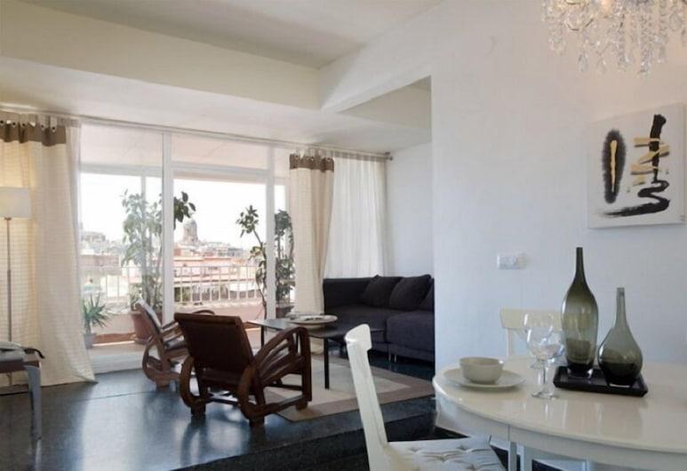 The Gran Via Penthouse, Barcelona, Apartmán, 1 spálňa, terasa, Obývacie priestory
