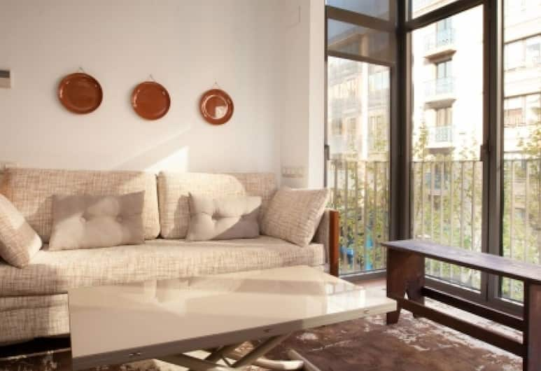 Còrcega Apartments, Barcelona, Maisonette, 1 Schlafzimmer (22), Wohnbereich