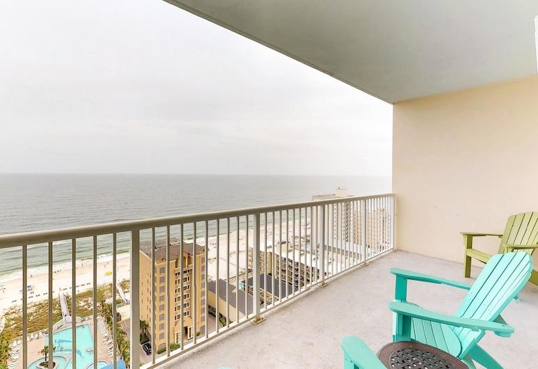 Crystal Towers, Gulf Shores, Kooperatīva tūristu mītne, divas guļamistabas, apsildāms kubuls (Crystal Tower #1804), Balkons