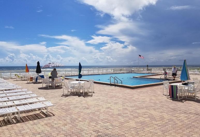 Castle Reef Condos, New Smyrna Beach, Διαμέρισμα (Condo), 1 Υπνοδωμάτιο, Ιδιωτική Πισίνα, Θέα στην Παραλία (Changes in Attitude), Εξωτερική πισίνα