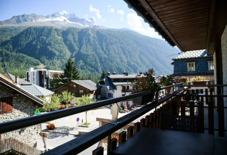 Hôtel Le Dahu, Chamonix-Mont-Blanc, Comfort kahetuba, vaade mägedele, Rõdu