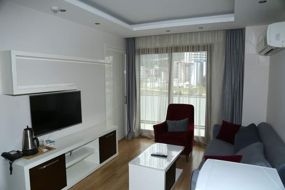 Lägenhet Deluxe - bubbelbad - Vardagsrum