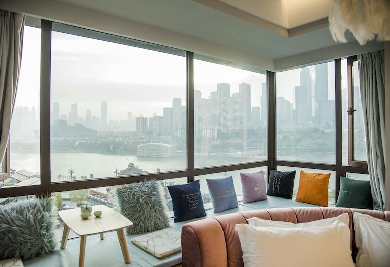 Weiyang Design Guesthouse, Chongqing, Design-Doppelzimmer, Zimmer
