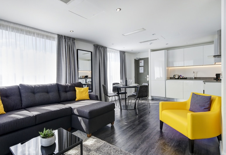 Dockside Apartments at Excel, London, Apartment, 1 Bedroom, River View, Living Area