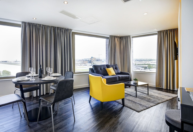 Dockside Apartments at Excel, London, Apartment, Mehrere Betten, Wohnbereich